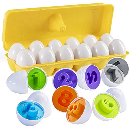 Prextex Trova e abbina Il Numero di Uova di Pasqua abbinate...