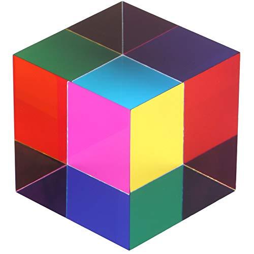 ZhuoChiMall CMY Mixing Color Cube, Prisma cubo Acrilico da...