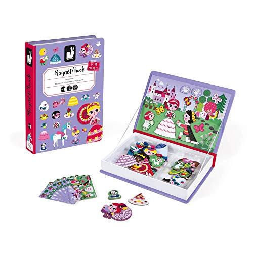 Janod- MagnetiBook Principesse, Colore Viola, J02725