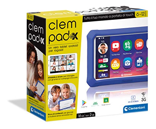 Clementoni- X Clempad X-Tablet per Bambini (Versione in...