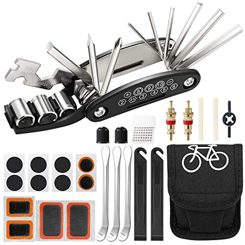 Aiooy Kit Attrezzi per Bici,Kit Riparazione per Bici, Kit di...
