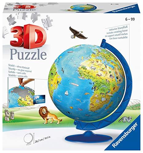 Ravensburger 12340 Globo 3D Puzzle, 180 Pezzi, Multicolore,...