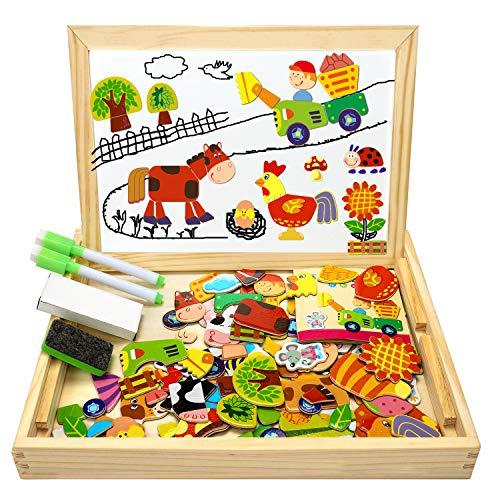 COOLJOY Puzzle Magnetico Legno, Giocattolo di Legno con...