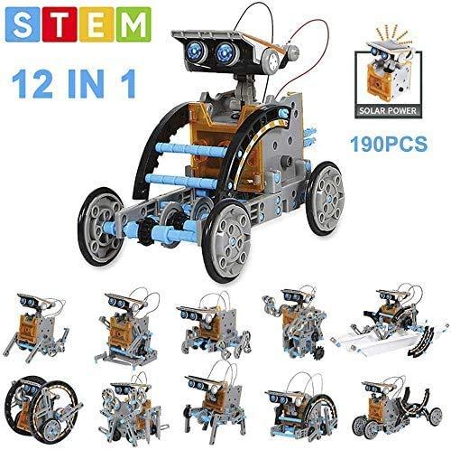OFUN Robot a Energia Solare 12 in 1,Robot Giocattolo STEM...