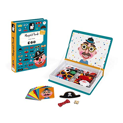 Janod Magneti'Book Crazy Faces Gioco Educativo, Bambino,...