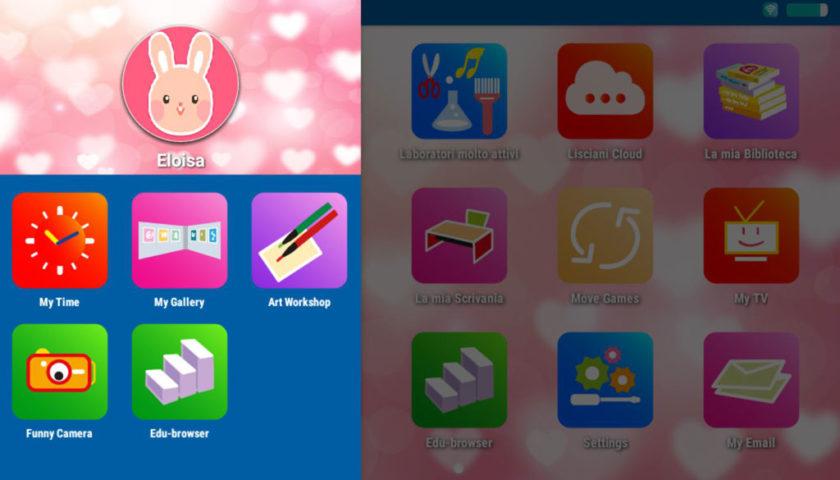 Mio Tab Smart Kid 6.0: personalizzazione desktop bambino