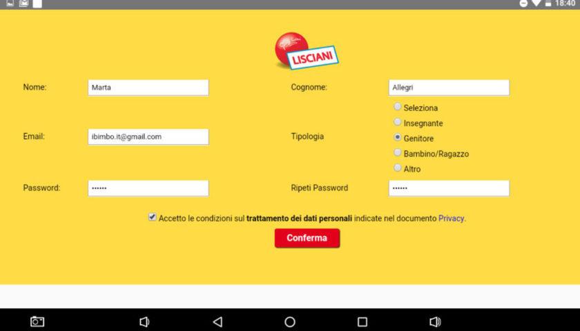Mio Tab Smart Kid 6.0: registrazione su Appdattica Store di Lisciani