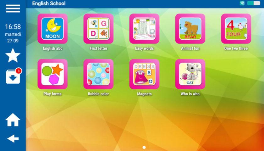 Mio Tab Smart Kid 6.0: tutte le app di English School installate e pronte per giocare!