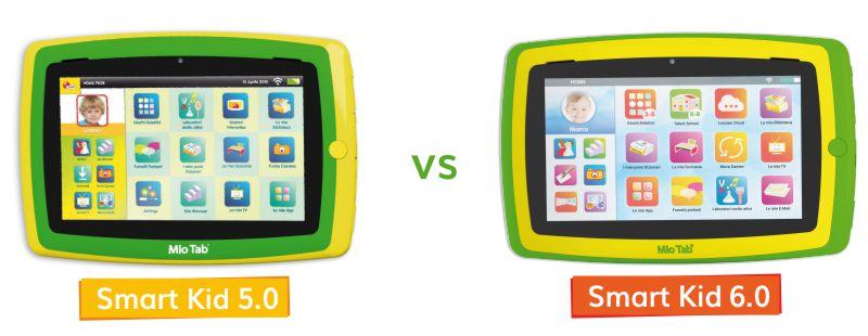 Mio Tab Smart Kid 5.0 e Mio Tab Smart Kid 6.0: le differenze