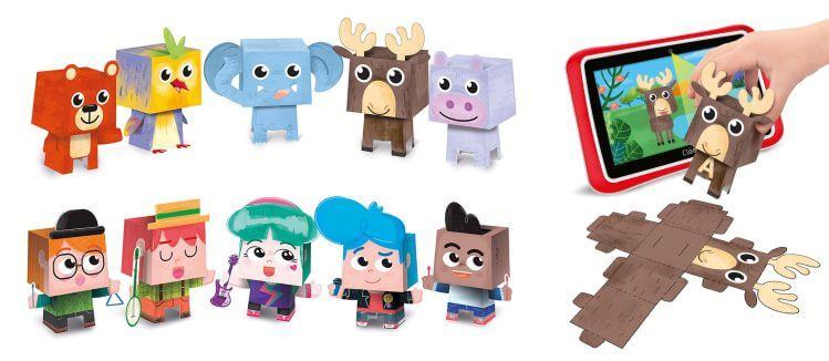 La famiglia di Clempad: i paper toys