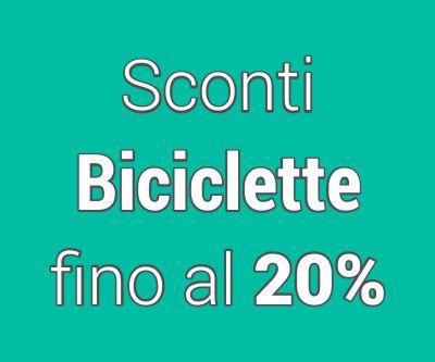 Sconti biciclette fino al 20%