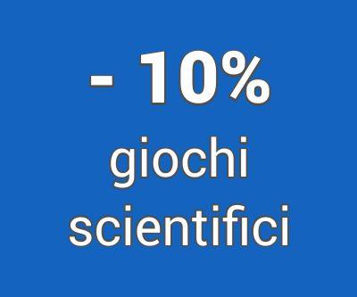 10% Sconto extra sui Giochi Scientifici ed educativi