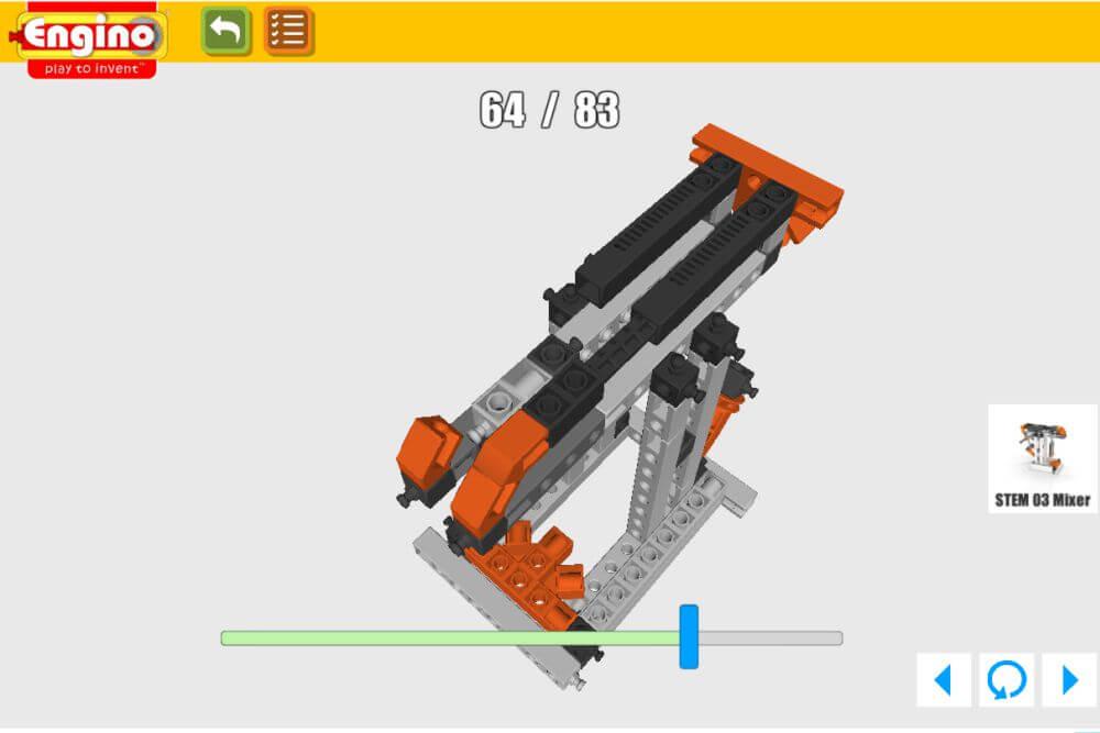 ENGINO Discovering STEM Meccanica Carrucole, istruzioni 3D