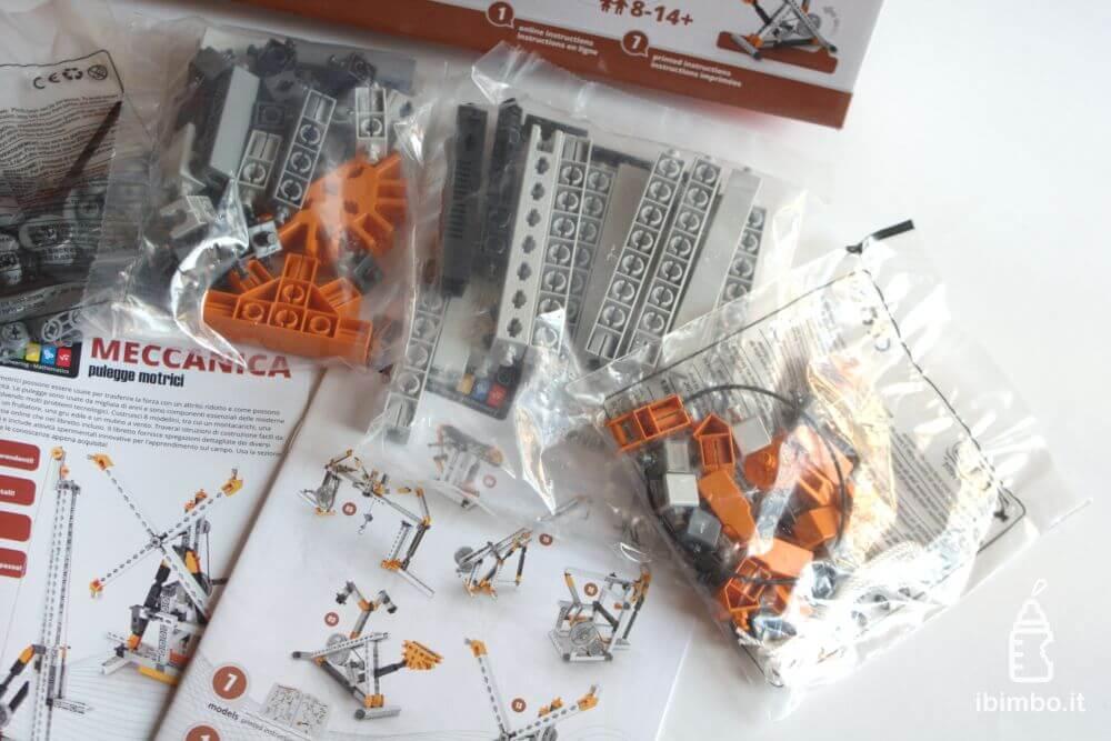ENGINO Discovering STEM Meccanica Carrucole, contenuto della scatola