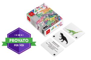 Dinoquiz, il gioco di carte didattico con un risvolto tecnologico, per i veri amanti dei dinosauri