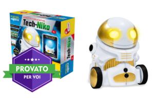 Tech-Niko, il robottino da assemblare e programmare che diventa anche una lampada
