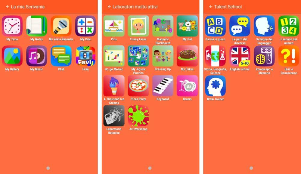 Mio Phone 5'' di Lisciani, i giochi