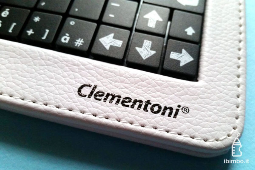 Clempad 9: dettaglio della tastiera in dotazione con modello Plus