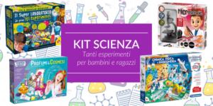 6 kit per piccoli amanti della scienza