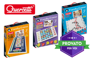 Proviamo i nuovi giochi intelligenti Family Game di Quercetti: chiodini e board game per tanto divertimento in famiglia